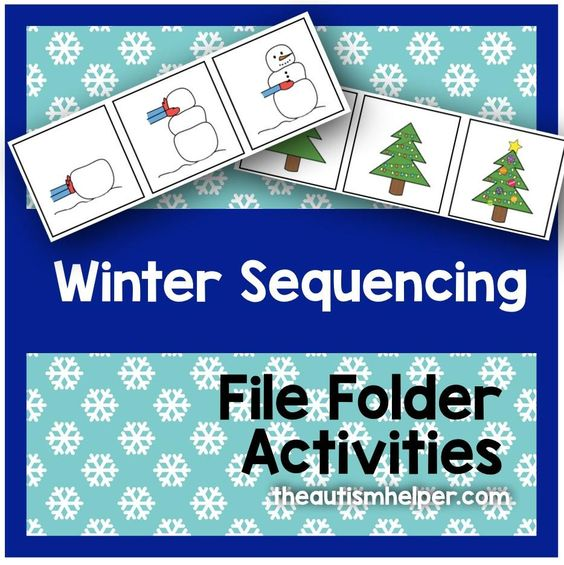 winter themed sequencing file folder activities winter file folder and chang 39 e 3. Black Bedroom Furniture Sets. Home Design Ideas
