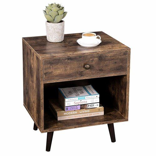 Hera 1 Drawer Bedside Table Union Rustic In 2020 Table Drawers