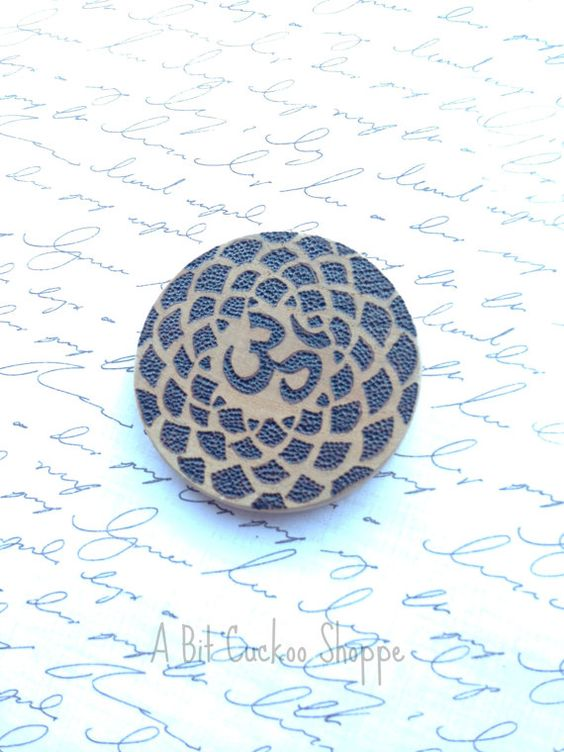 Wooden Om Pendant Om Pendant Wooden Lotus Pendant by AbitCuckoo