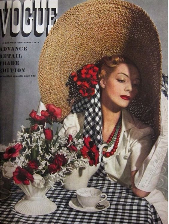 Vogue May 1938. Photograph by Horst #millinery #judithm #hats:
