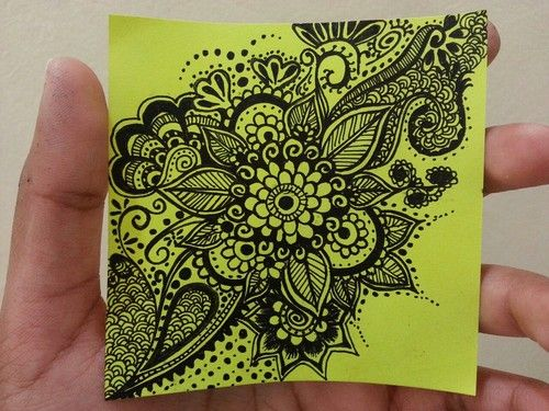 Mehndi For The Inspired Artist : Mehndi inspired doodle flower art doodling my