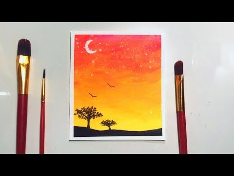 Watercolor Painting Ideas For Beginners Wet In Wet Technique
