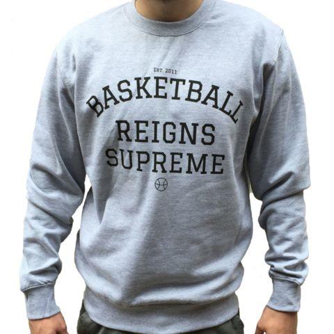 Basketball Reigns Supreme Logo Crew - Grey