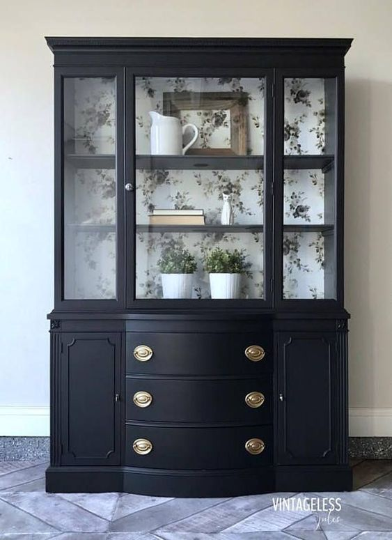 black china cabinet #paintedfurniture #affiliate