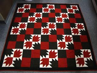 I love black, white, and red quilts...this was fun to make :):