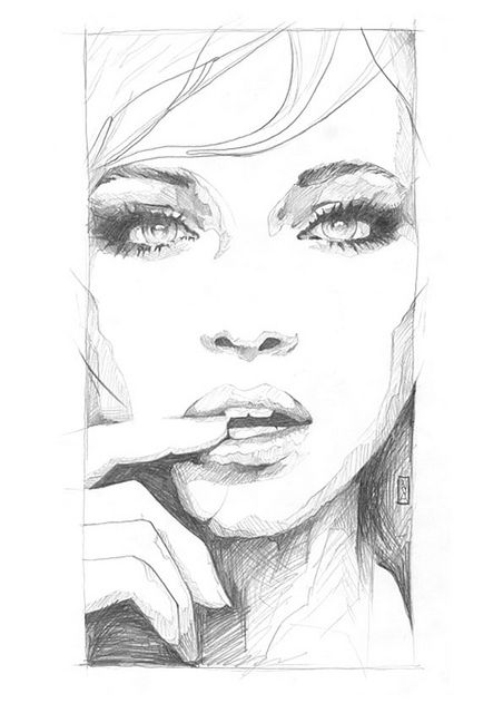 Sketch of the Art of Suggestion by Art By Doc, Danny O'Connor, via Flickr, graphite on paper