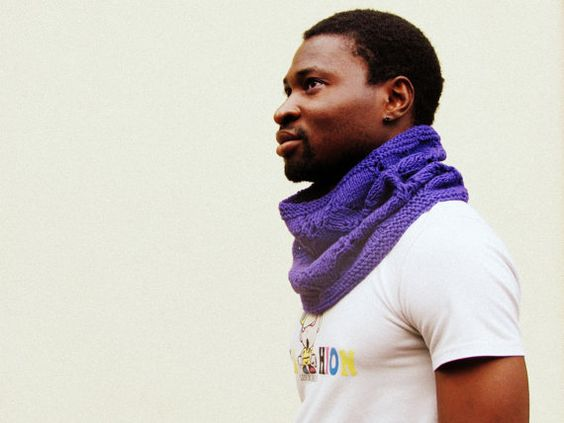 Purple men Cowl   Knitted   Dad gift  Block by theYarnKitchen,