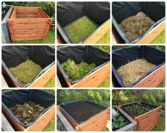 Ein Hochbeet Aus Einem Komposter Bauen Und Befullen Anleitung Mit Bildern Hochbeet Komposter Bauen Und Kompost