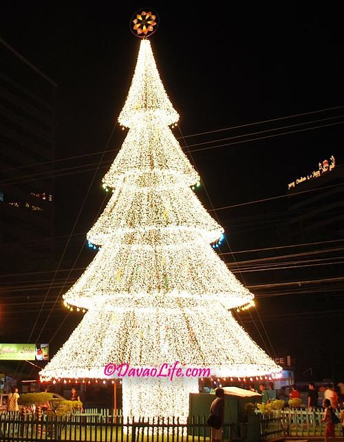The giant lighted Christmas tree outside Victoria Plaza in Davao