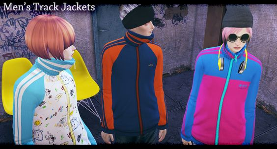 [Men's Track jackets]DOWNLOAD/MediaFirefor male/clothing-top/original mesh by EA/remesh by me. You can use it as you want.please enjoy it. 色追加したり直したりなんでもお好きなようにお使いください。