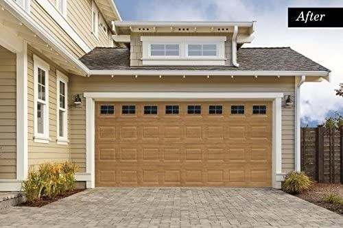 Giani Decorative Magnetic Garage Door Window Panes Weather Resistant Ultra Strong 2 Car Black Garage Door Styles Garage Door Design Garage Door Colors