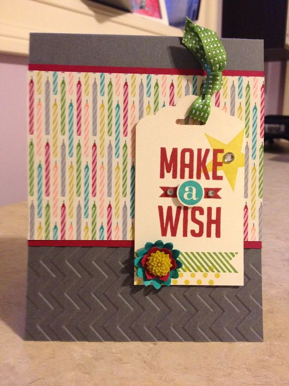 Catherine Loves Stamps: Make A Wish Birthday Card