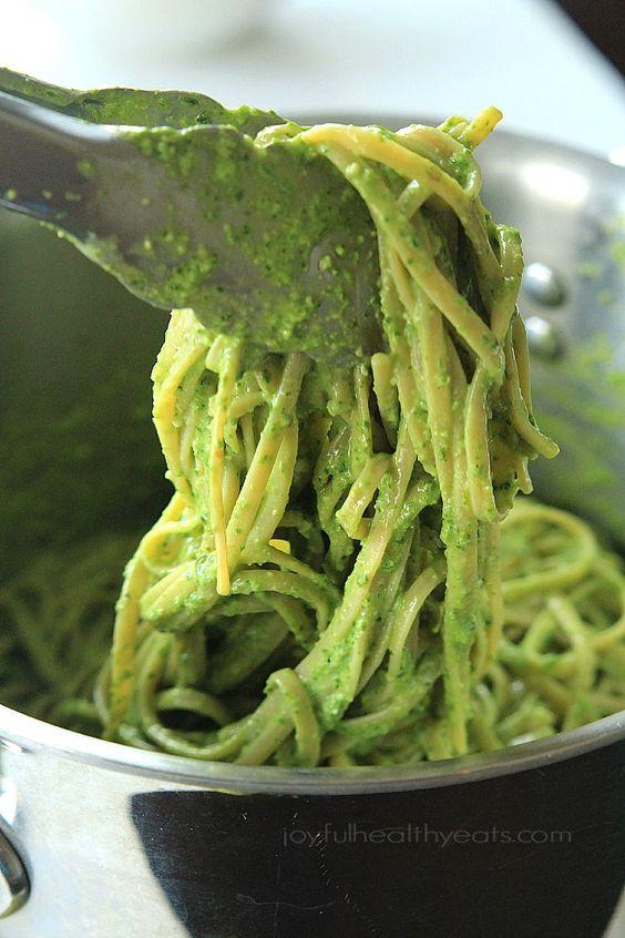 Spinach Pesto Pasta with Grilled Shrimp | Recipe | Zucchini, Spinach ...