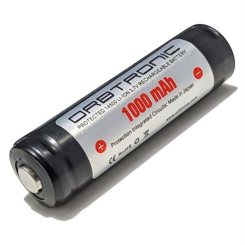 14500 Battery 1000mah Protected 3 7v Li Ion Rechargeable Button Top Orbtronic Battery Rechargeable Batteries Recharge