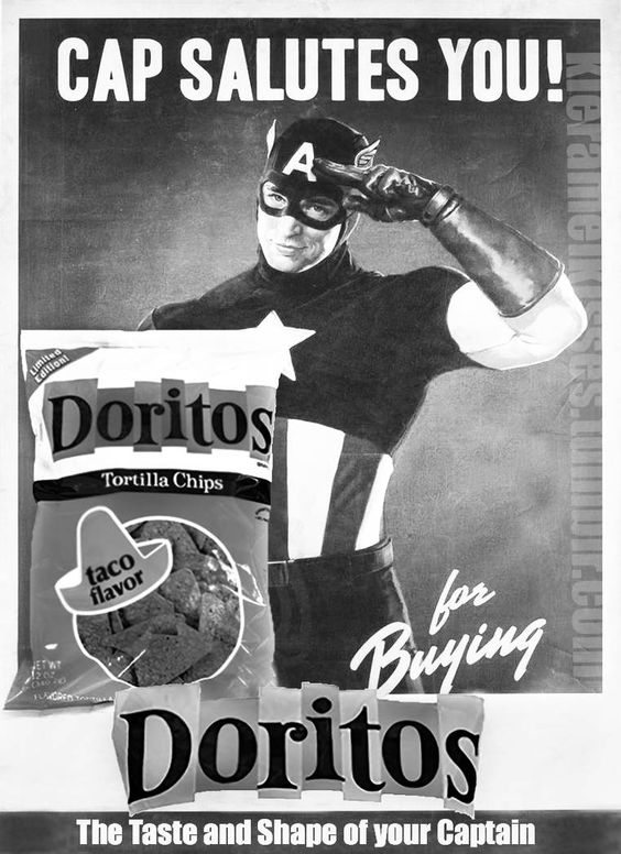 Cap saluted you for buying Doritos