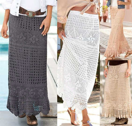 Free Crochet Pattern Maxi Skirt : Maxi skirts, Skirts and Maxis on Pinterest