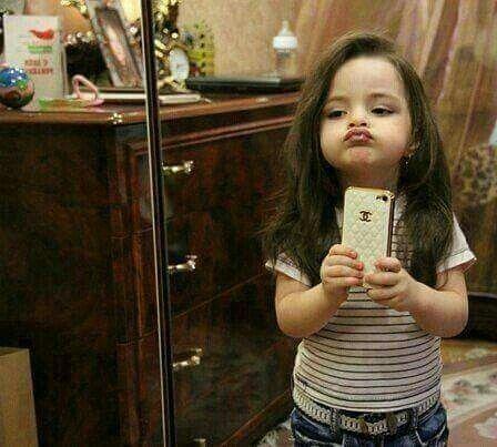 Cute baby selfie