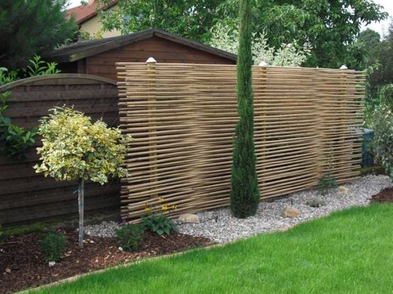 Moderner Sichtschutz für den Garten Gartenideen Pinterest - outdoor küche mauern