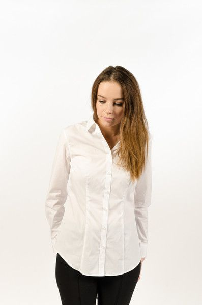 Cotton Stretch Poplin Women's - White - BAAM Labs - 1