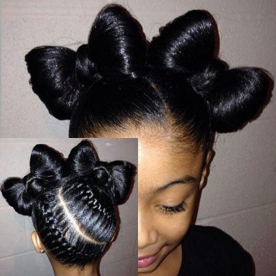 Stupendous Braids Bows And Flower Girls On Pinterest Short Hairstyles For Black Women Fulllsitofus