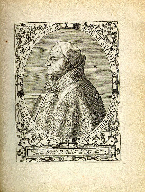 Engraving of Pope Pius II by Jean-Jacques Boissard