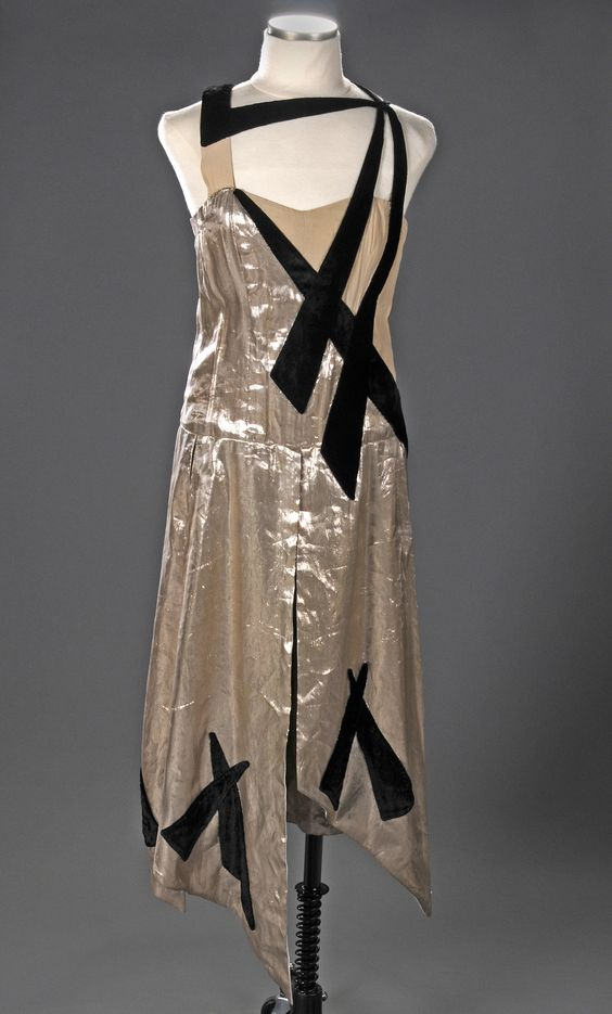 "Reproduction of a dress designed by Gordon Conway for ""High Treason"" (1929)."