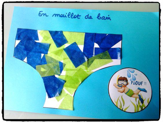Bricolage Decoration Ete : Décorer son maillot de bain bricolage enfant été