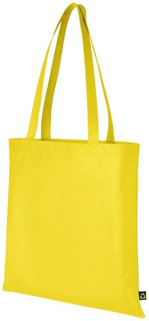 Bolsa Tote congresos.  Diseño de bolsa delgada con compartimento principal abierto.  Asas reforzadas para mayor durabilidad.  Altura de las asas de 29,2 cm.  La bolsa es reciclable.  Material: 80 gsm. Tejido sin tejer, polipropileno  Colores disponibles: Negro, azul real, rojo, cereza, verde lima, naranja, púrpura, blanco, amarillo y azul marino