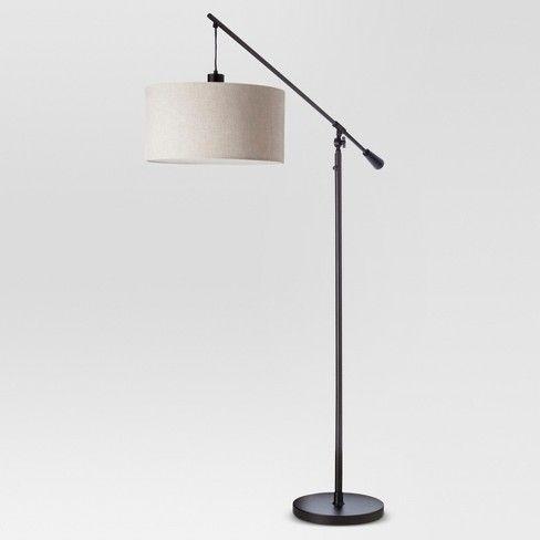 Cantilever Drop Pendant Floor Lamp Antique Brown Threshold Floor Lamps Living Room Black Floor Lamp Antique Bronze Lamp