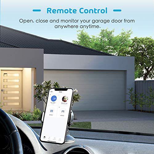 Meross Smart Wi Fi Garage Door Opener Remote App Control Compatible With Alexa Google Assist Garage Door Opener Remote Garage Doors Smart Garage Door Opener