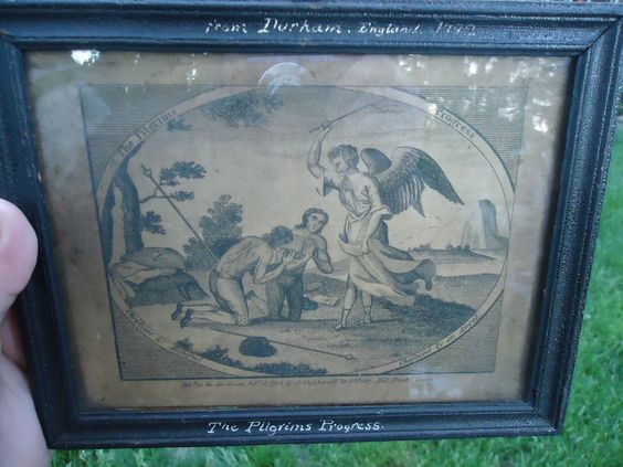 set antique 18th c english frames engravings prints pilgrims progress 1792 rare #Miniature