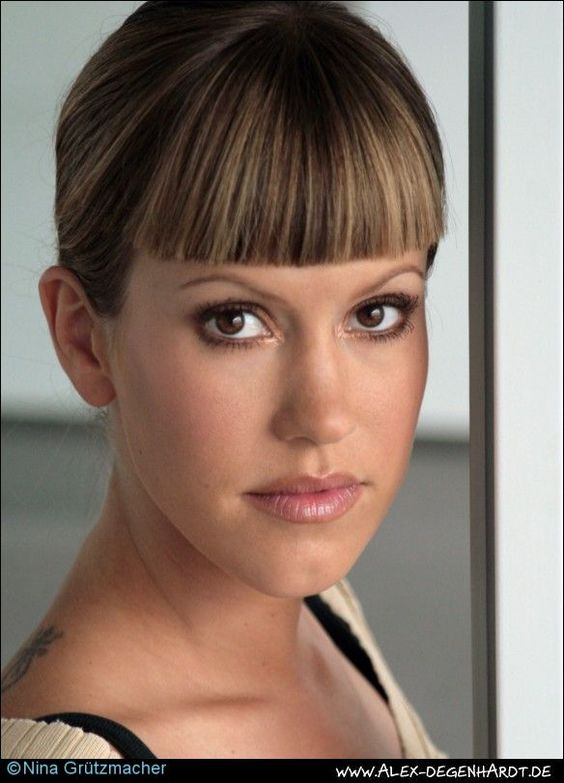 Blunt Bangs Updo And Bangs On Pinterest