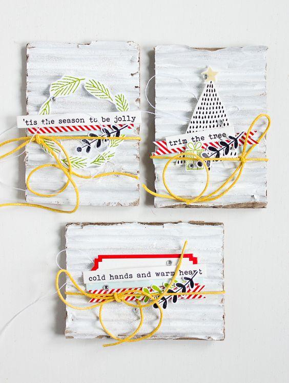 Artist Trading Cards + Christmas Topper |Janna Werner