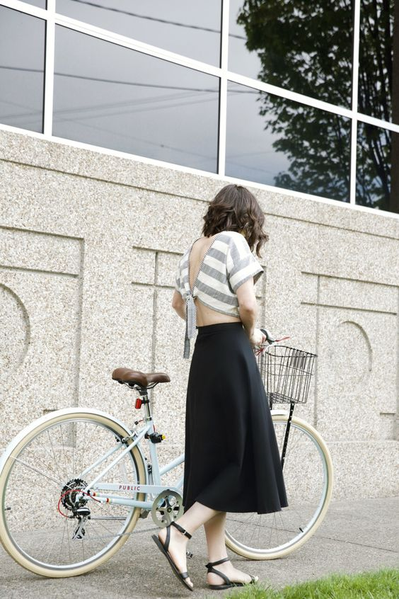 My latest project with Clementine Daily and Zappos, featuring the Stephane sandal and a borrowed bike!: