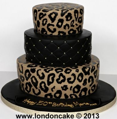 Leopard Print Birthday Cake Designs