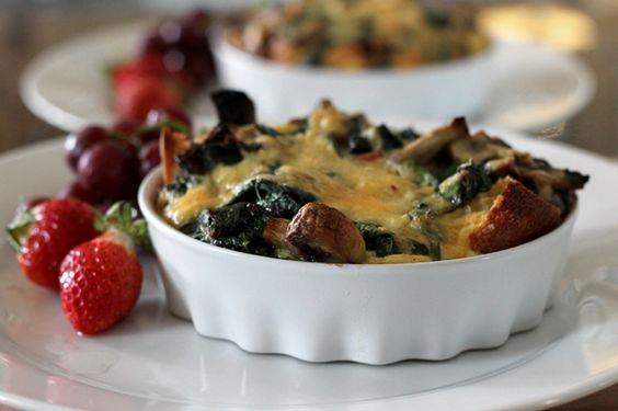 A recipe for bacon cheddar and veggie strata, a fully satisfying brunch baked into a single dish.