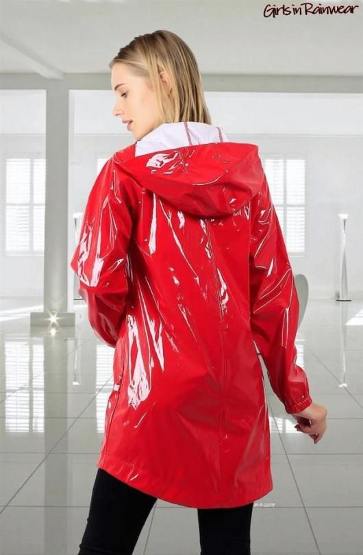 Vinyl Rain Rainwear Fashion Leather Jackets Women Shiny Clothes