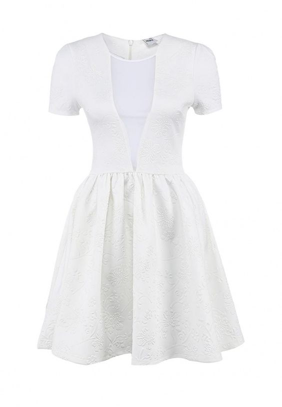 Платье People женское. Цвет: белый. Сезон: Весна-лето 2014. С бесплатной доставкой и примеркой на Lamoda. http://j.mp/1rSxVJd