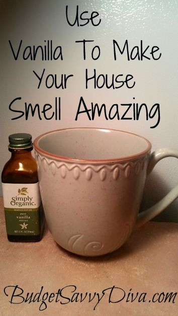 Perfect tip if you are going to have company over or you just want your house smelling amazing. Simply  place 2 teaspoons of vanilla into a coffee mug and place in a 300 degree oven for 1 hour.
