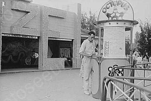 Ohio State Fair Octupus Ticket Booth 4x6 Reprint Of Old Photo