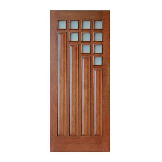 Puerta exterior con 10 vidrios de 6 mm de grueso satinados sin templar chapa de 4 mm de grueso - Puertas chapa exterior ...