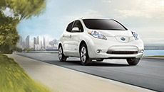 Nissan LEAF® shown in Pearl White, Electric Car, Nissan, EV, Cars