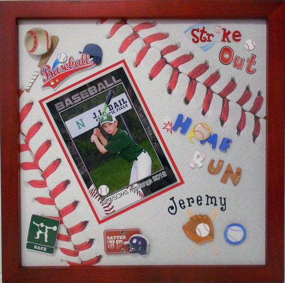 Baseball Themed Shadow Box By Theshadowbox On Etsy 50 00