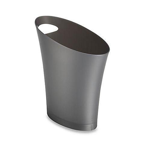 "Umbra® Skinny Can Wastebasket, bedbathandbeyond.ca, Measures 13"" D x 6.5"" W x 13"" H, $6.99"