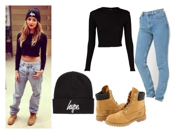 """Jade Thirlwall on Instagram"" by little-mix-fashionlover ❤ liked on Polyvore featuring Hype and Timberland"