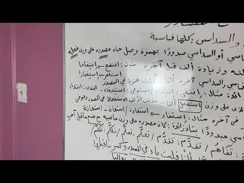 تابع المصادر المصدر الخماسي والمصدر السداسي Youtube Arabic Langauge Arabic Language Language