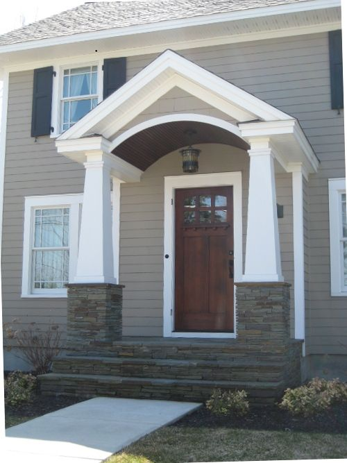 Entrance With Portico Columns : Porch columns coaches and front porches on pinterest