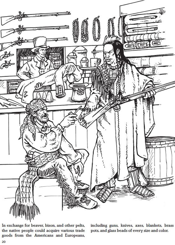 fur trade coloring pages - photo#2