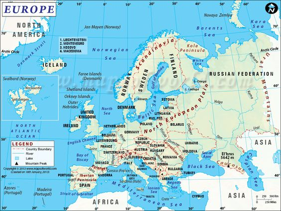 Europe map highlights the European countries with their capitals – Travel Map Of Europe With Cities