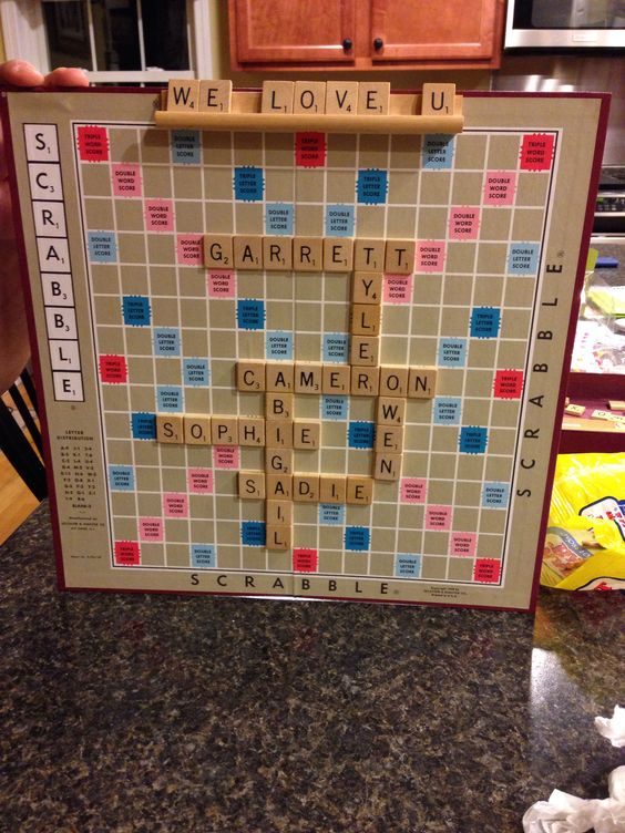 My scrabble DIY Christmas gift for my mother in law